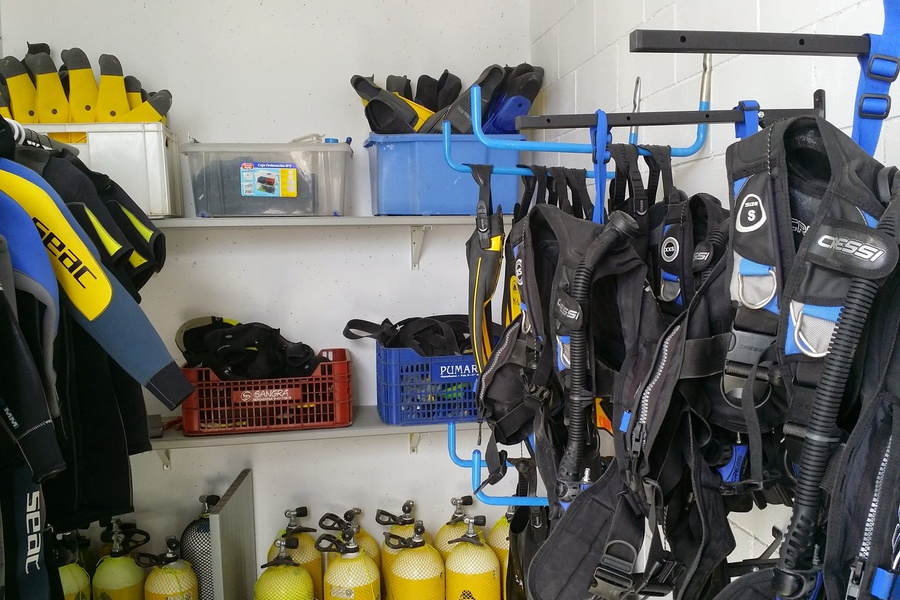 Equipment racks in Tarragona
